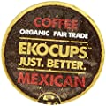 EKOCUPS Organic Artisan Mexican Coffee, Medium Roast, in Recyclable Single Serve Cups for Keurig K-cup Brewers, 10 count