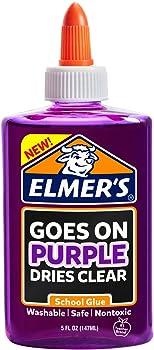 Elmers Disappearing Purple Liquid School Glue, 5-Ounces, 1 Count