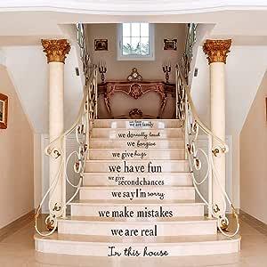 Pegatinas para escaleras, adhesivos de pared ingleses, sala de estar, adhesivos decorativos, adhesivos, adhesivos para escaleras: Amazon.es: Hogar