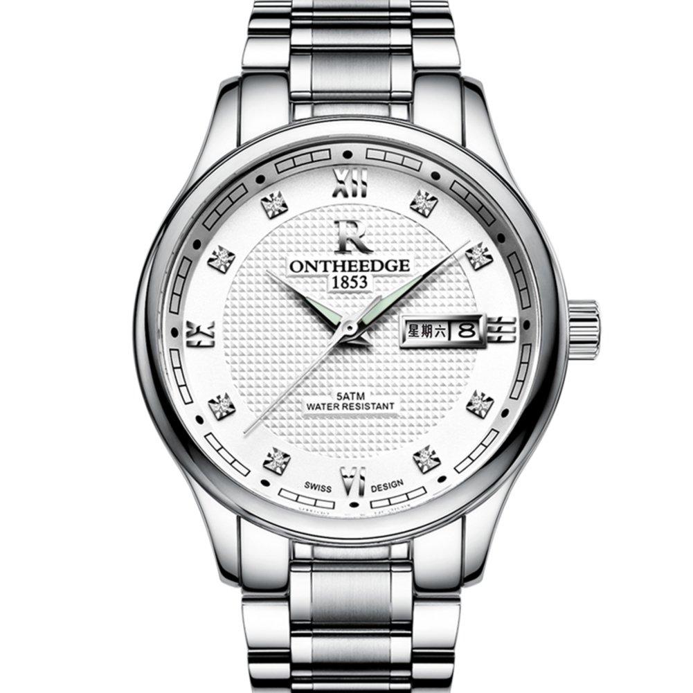 超薄型防水Watch /ステンレススチールBand Quartz Watch /ビジネスカジュアルwatches-e B06XJNCSLD