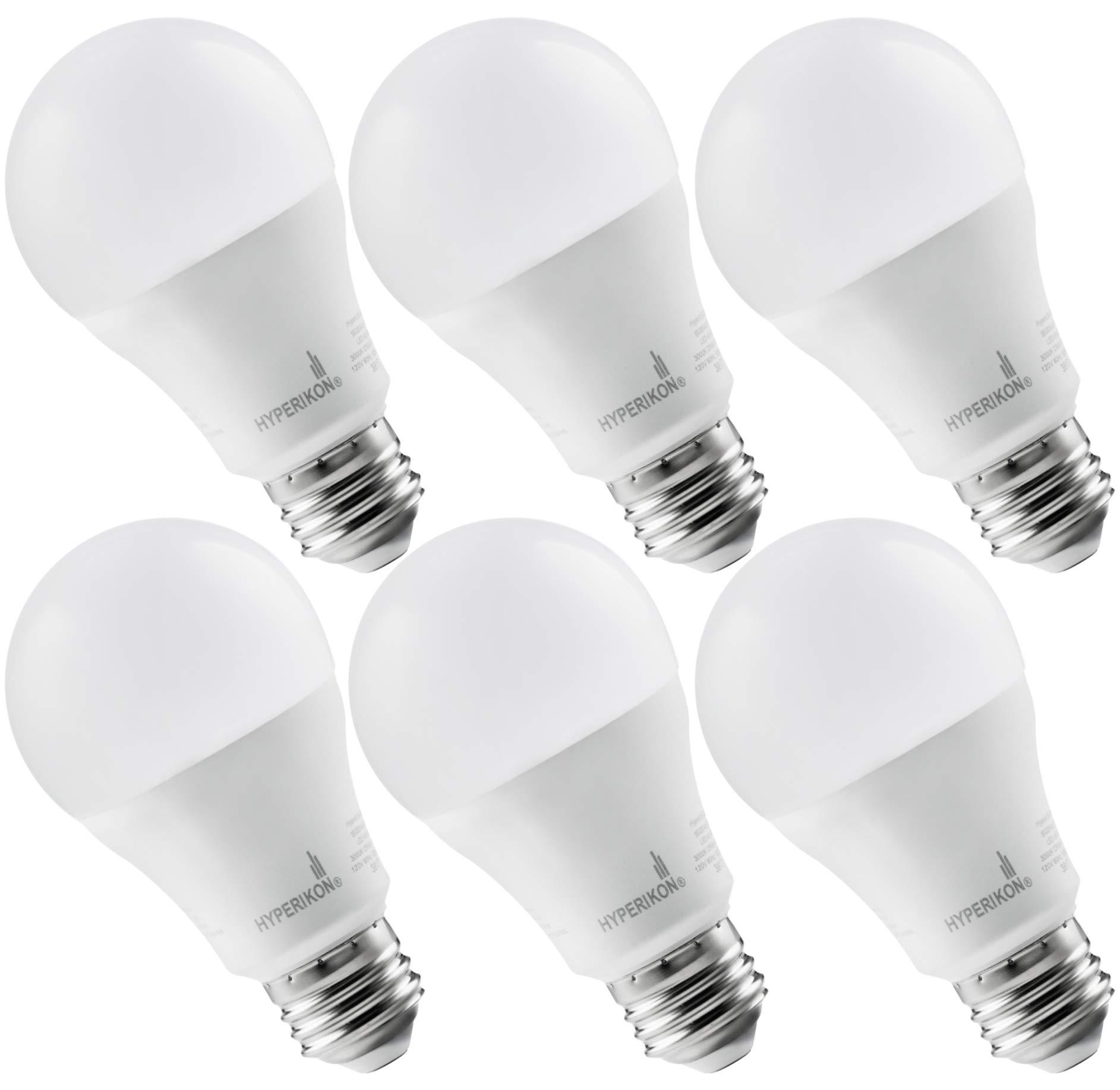 Hyperikon LED A19 Dimmable Bulb 100W Equivalent, Soft White 3000K, LED 14W Bulb (6 Pack)