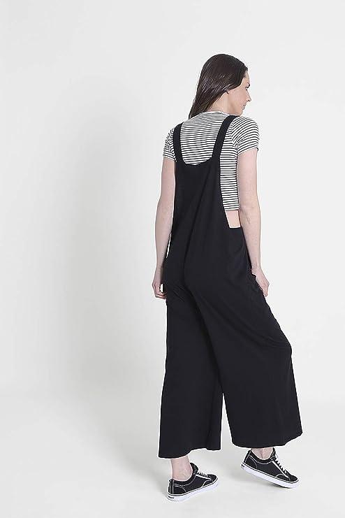 Nero Tuta One Size AMBERBLK Wash Clothing Company Donna vestibilit/à Comoda Salopette di Cotone