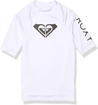 Roxy Girls Whole Hearted Short Sleeve Rashguard