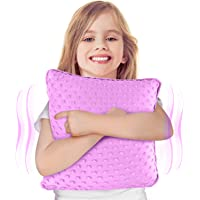 """Special Supplies Vibrating Pillow Sensory Pressure Activated Calm for Kids and Adults, 12"""" x 12"""" Plush Minky Soft Cover…"""