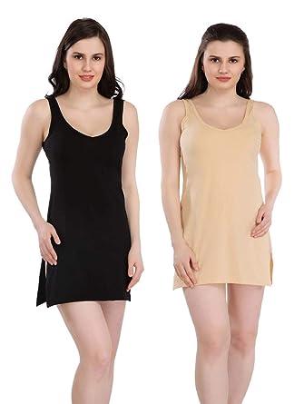 0548bbe915 Splash Cotton Rich Suit Slip   Women's Kurti Slip (Pack of 2) - Black