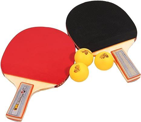 Tera Tabla Raqueta de Tenis Mesa de Ping Pong Raqueta Set 2x ...