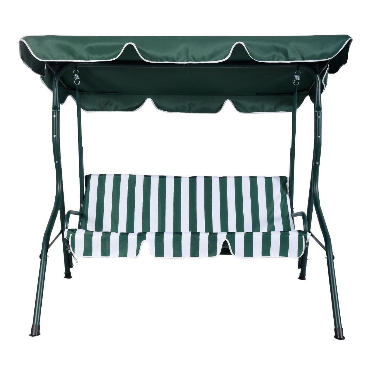 Amazon.com: Goplus Patio Swing Outdoor Canopy Awning Yard Furniture Hammock  Steel Green 3 Person: Garden U0026 Outdoor
