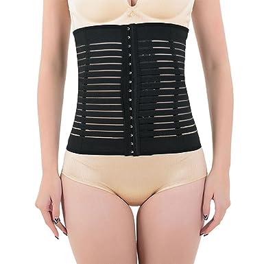 91066ff1016 Shymay Women s Tummy Slimming Shapewear Breathable Girdle Waist Training  Cincher