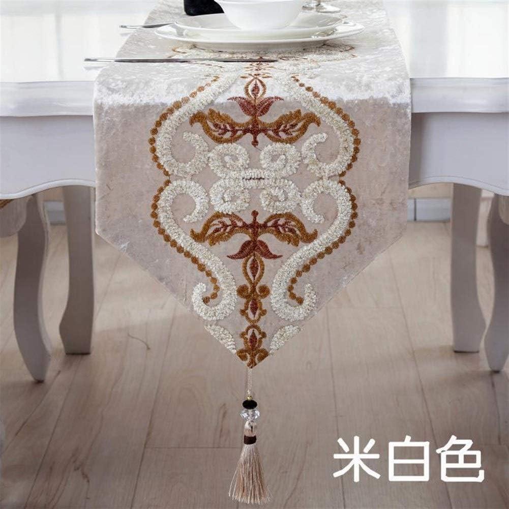 Facile Haut de gamme Western Continental Chemins de table en tissu de luxe usine de mode de fleurs Chemin de Table D/écoration de table pour les d/écorations pour la maison