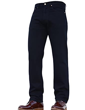 d54ceedb1c64e Mens Regular Fit Heavy Duty Plain Basic Denim Work Jeans Pants Available  in: Amazon.co.uk: Clothing