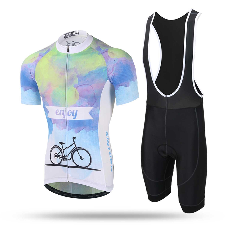 Qsjb XINTOWN Radfahren Bekleidung Sets Kurze Ärmel Jersey und Hosen für Männer Sommer Breathable leichte Fahrrad Bekleidung Radfahren Anzüge Reiten Sportbekleidung