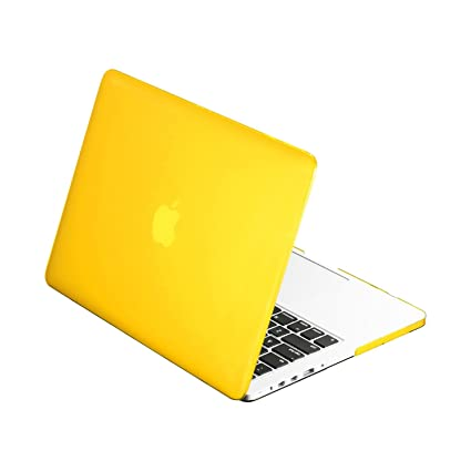 cheap for discount 8824d e4c06 TopCase Rubberized YELLOW Hard Case Cover for Macbook Pro 13-inch 13