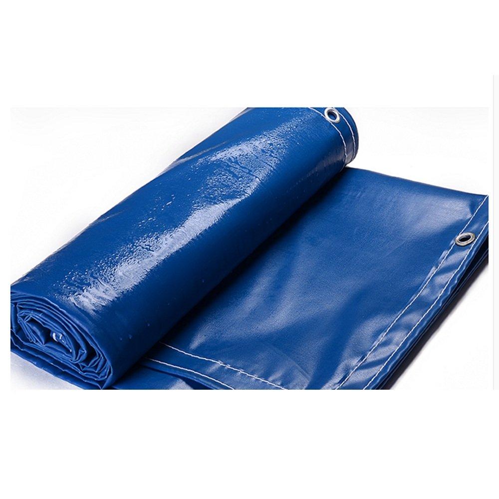 DNSJB Plane, PVC doppelseitiges wasserdichtes Segeltuch, Gewächshaus, LKW Shading Sunscreen, eine Vielzahl von Größen zur Auswahl, hochwertige Plane (Farbe   Blau, größe   3  5m)