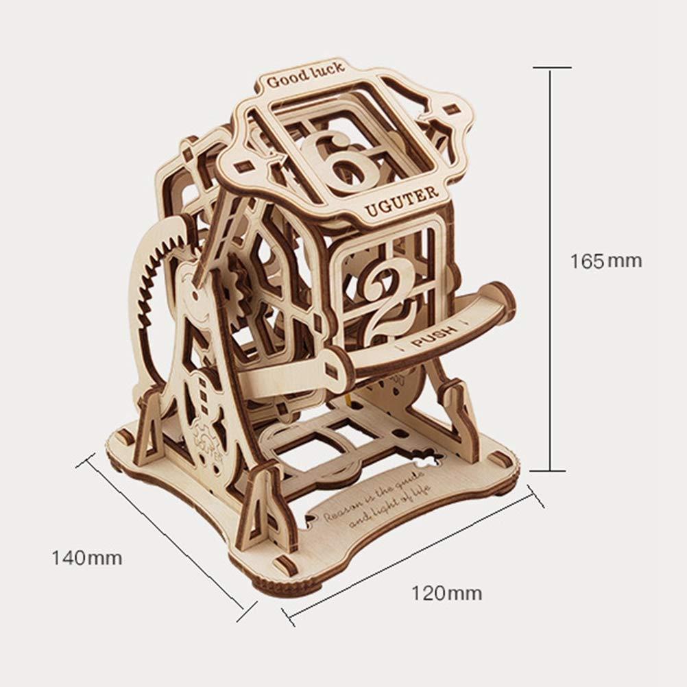 Lhcar Rompecabezas de Madera 3D Juego de Dados de Mesa giratoria ...