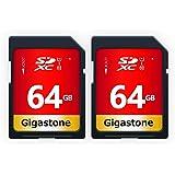 Gigastone 64 GB SD-kort 2-pack UHS-I U1 klass 10 SDXC minneskort hög hastighet Full HD Video Canon Nikon Sony Pentax…