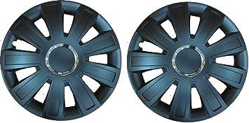 "Pair Of Black 14/"" Caravan Wheel Trims Hub Caps for Bailey Ranger 460 //2 2004"