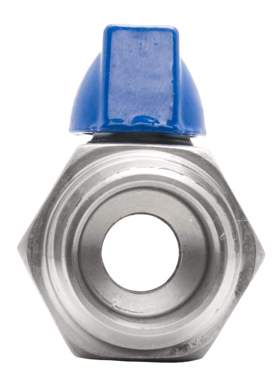 1//2 Stainless Steel 316 FxM NPT Mini Ball Valve