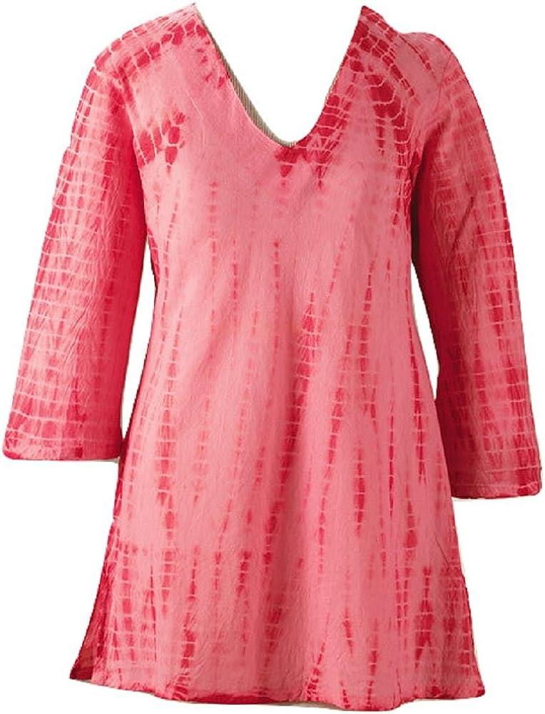 Smithsonian Rosy Tie Dye Tunic