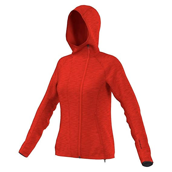 Details zu adidas Damen Jacke Kapuzenjacke Climaheat Fullzip Hoody Polarfleece