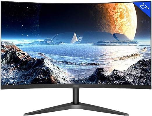 YXSP Monitores Negro de 27 Pulgadas Curvo Oficina LCD, LED Display Protección de Los Ojos (HDMI D-Sub Interfaz de Audio): Amazon.es: Hogar
