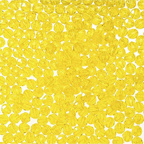 (DARICE 06101-5-T3 Bead Faceted Acid, Yellow)