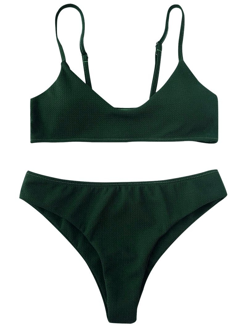 ZAFUL Conjunto De Bikini Bralette Push Up Dos Piezas Set Traje de Baño Superficie de Malla