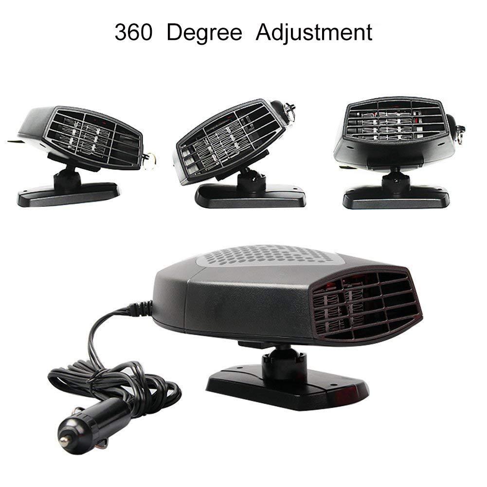 12 V, 300 W, alta potencia, para coche, parabrisas, calentamiento r/ápido, descongelador de ventilador para f/ácil extracci/ón de nieve MASO Calefactor port/átil para coche