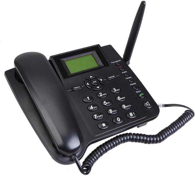 M281-GSM Fixed Wireless GSM Teléfono Fijo Inalámbrico con Función SMS Cuatribanda: Amazon.es: Electrónica