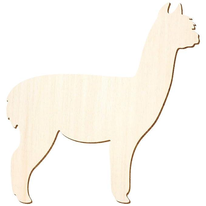 3-50cm H/öhe Pack mit:25 St/ück Basteln Deko Gr/ö/ße:10cm Holz Alpaca