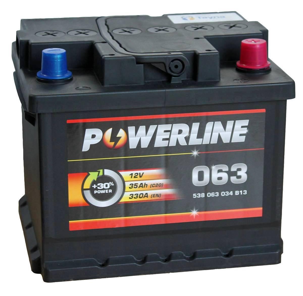 063 Powerline Batterie de Voiture 12V