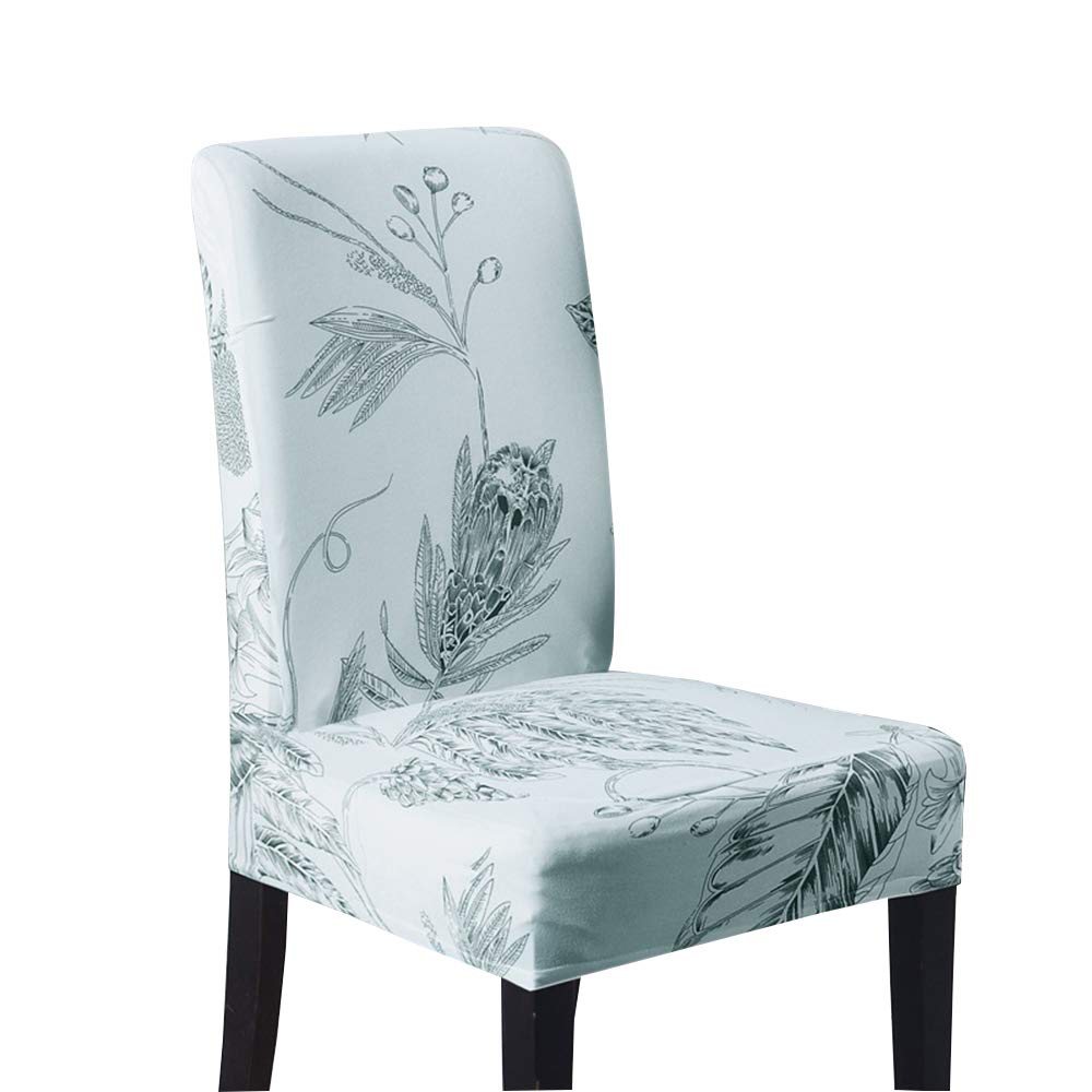 Flower Chair Covers,Hotel Conference Room Party Chair Covers Stretch Elastic Office Computer Seat Universal (6PCS,B)