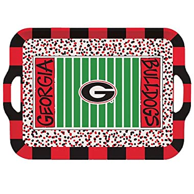 Collegiate Melamine Handled Serving Tray (Georgia Bulldogs)