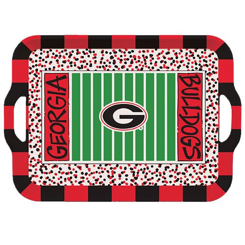 Collegiate Melamine Handled Serving Tray (Georgia (Georgia Game Day Chip)