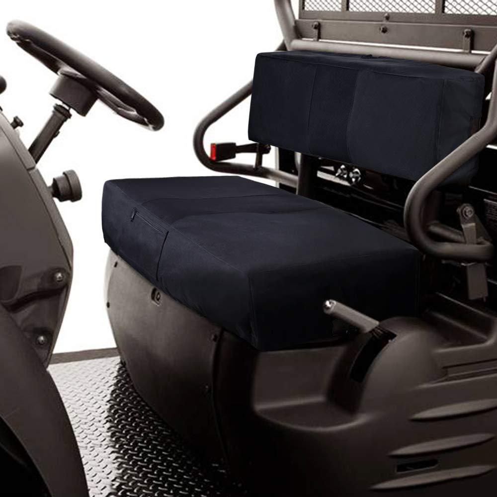 KEMIMOTO UTV Bench Seat Cover for Kawasaki Mule 600 610 Black by kemimoto