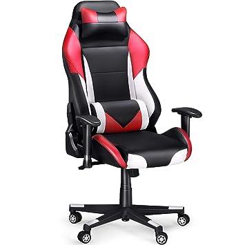 Sedia Gaming Economica.Sedia Gaming Slypnos Gaming Chair Economica Di Finta Pelle Alta 131 5 Cm Inclinazione Fra 90 E 135 Portata 136 Kg Cuscini Lombare E Testa