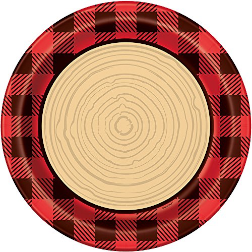 Buffalo Plaid Lumberjack Dinner Plates, 8ct - Flannel Paper