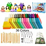 Polymer Clay Oven Bake Clay 36 Colours Safe and Nontoxic Soft DIY Modelling Moulding Clay with 14 Modeling Tools and Accessories