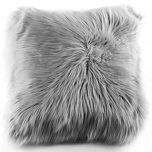 Home Dynamix Faux Sheepskin Fur Shag Throw Pillows, 20