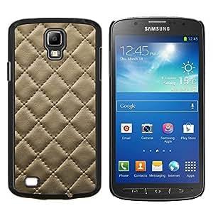 Caucho caso de Shell duro de la cubierta de accesorios de protección BY RAYDREAMMM - Samsung Galaxy S4 Active i9295 - Cuero del patrón de la galleta de la galleta Costura Diamond