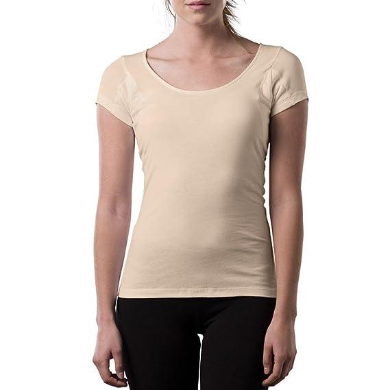 The Thompson Tee Camiseta Interior antisudor Para Mujer - con Refuerzo Antimicrobiano EN Las Axilas - Corte Regular - Cuello Ovalado: Amazon.es: Ropa y ...
