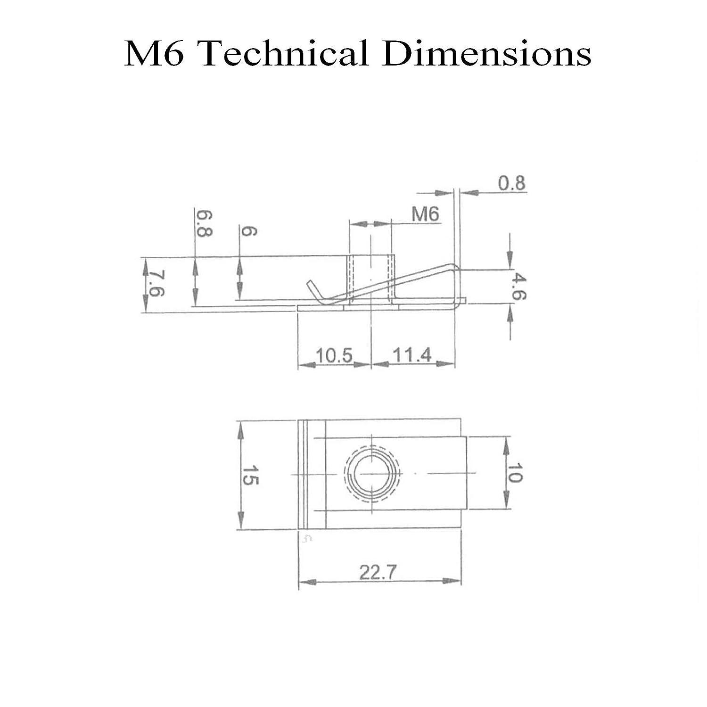 10 X M4 Fairing Bodywork Panel U Clips Motorcycle Honda 4514 Wiring Diagram Schematic Bike Nut Speed Fasteners Automotive
