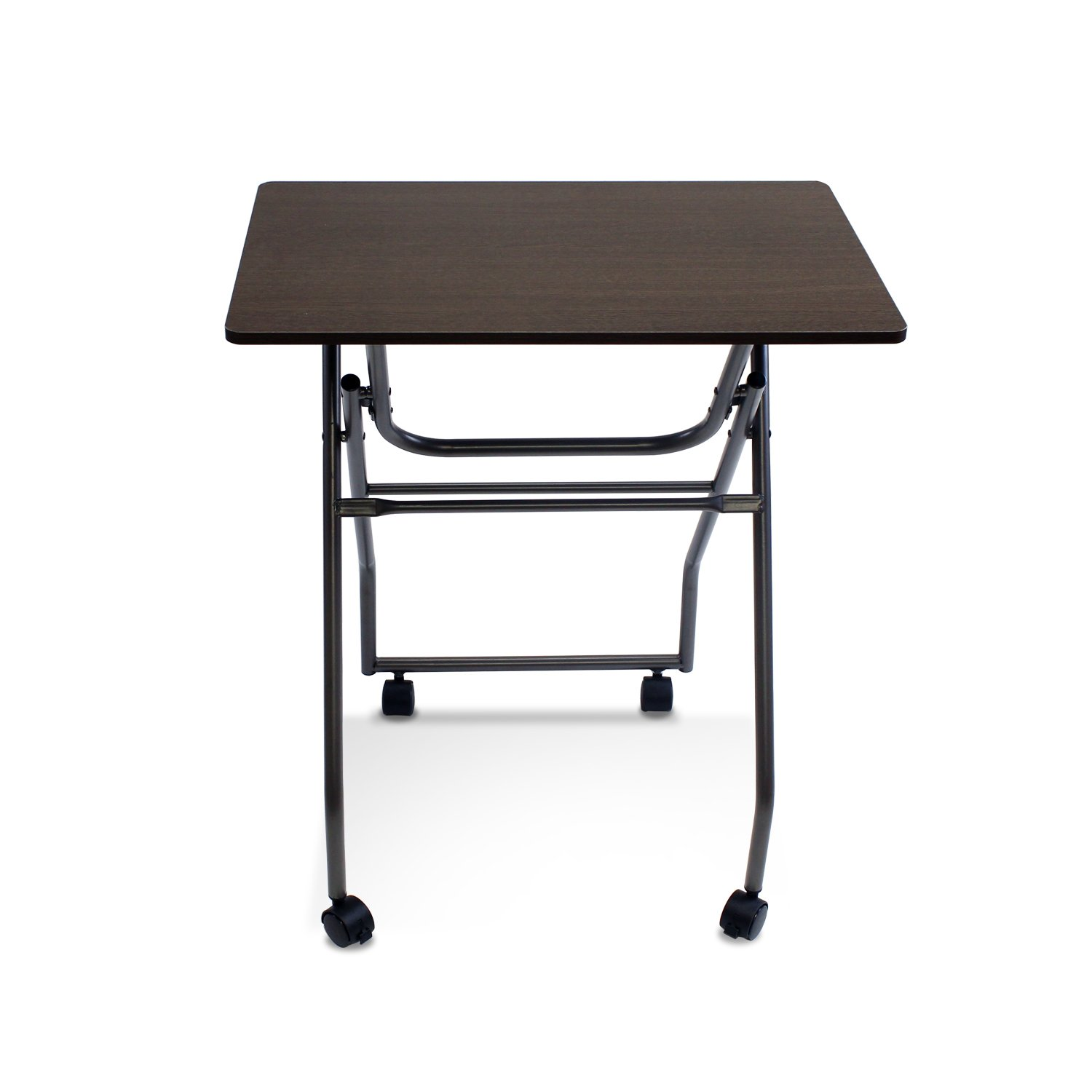 Furinno 11044DBR/GY Easi Folding Multipurpose Tray Table, Dark Brown/Grey by Furinno