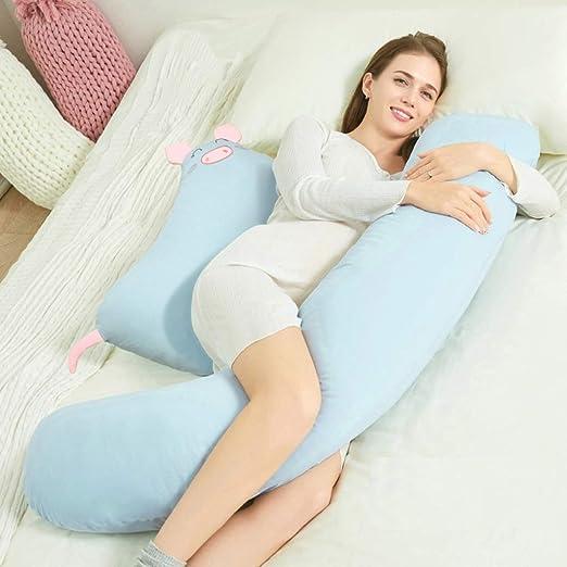 Multifuncional almohada de embarazo, algodón lavable de tipo ...