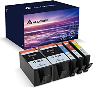 ALLWORK Remanufactured 934 XL 935 XL Ink Cartridge Replacement for HP 934XL 935 XL 934 935 (2 Black Cyan Magenta Yellow 5-Pack) for use in HP OfficeJet 6830 6835 6230 6220 6812 6815 6820 6810 Printer