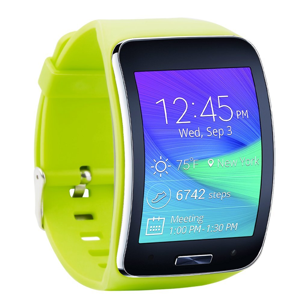 Fit-power Samsung Galaxy Gear S R750 Pulsera de repuesto de reloj inteligente inalámbrico con hebilla de seguridad