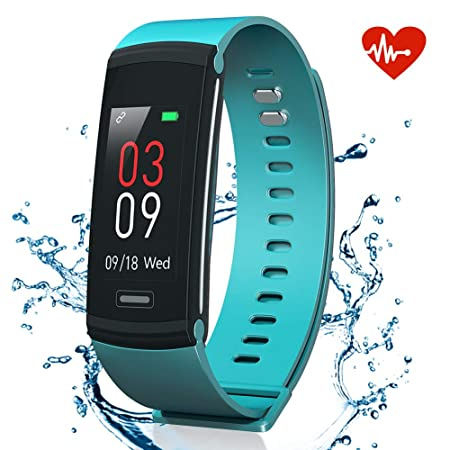 AKASO Fitness Tracker Watch, Activity Tracker with Heart Rate Monitor, Waterproof Step Tracker Watch, Physiological Reminder Smart Band with Color Screen for Kids Women and Men