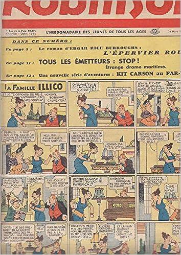 Free google books downloader version complète ROBINSON # 99 20 Mars 1938 GUY L ECLAIR Mandrake RICE BURROUGHS Popeye FAMILLE ILLICO PDF ePub iBook