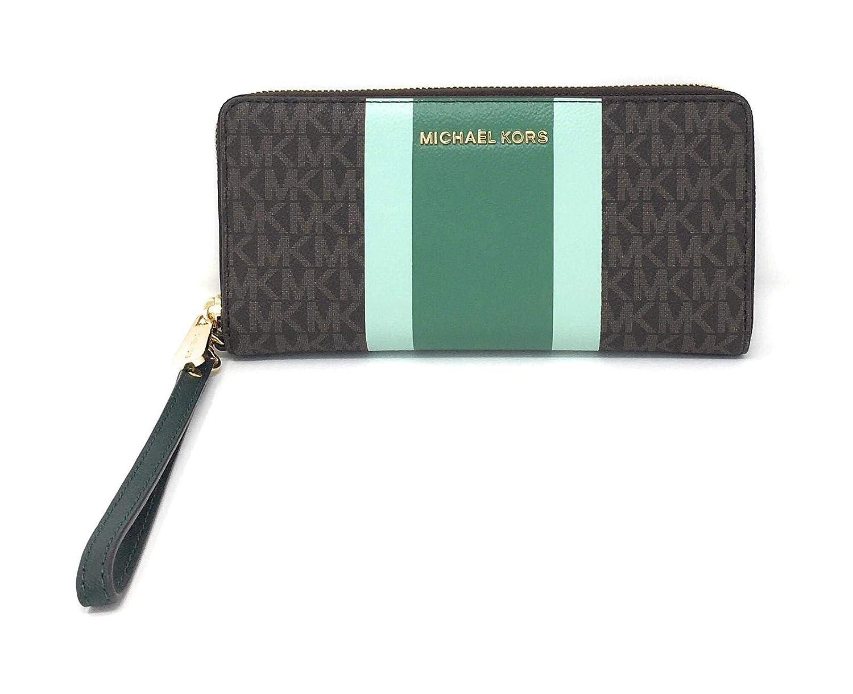 Michael Kors Womens Jet Set Travel Continental Leather Wallet Baguette