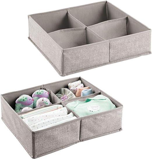 mDesign – Organizador para bebés – Caja organizadora con cuatro ...