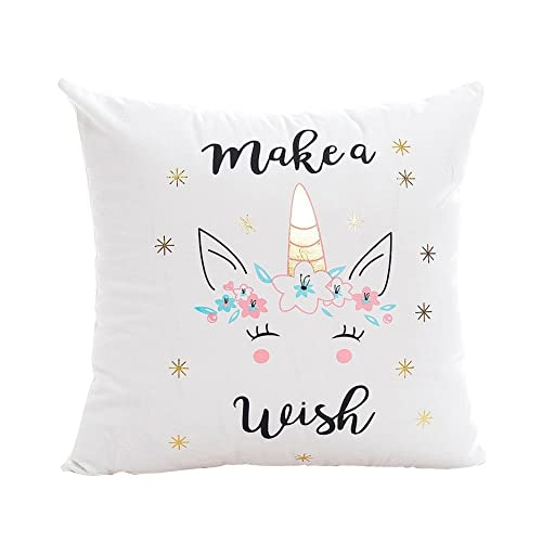 Beau Pu Ran Lovely Unicorn Printed Throw Pillow Case Sofa Bed Home Car Decor  Cushion Cover